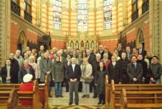 Msgr. Heribert August i dobrotvori obnove katedrale