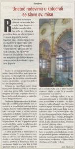 Unatoc radovima u katedrali se slave sv. mise (Medium)